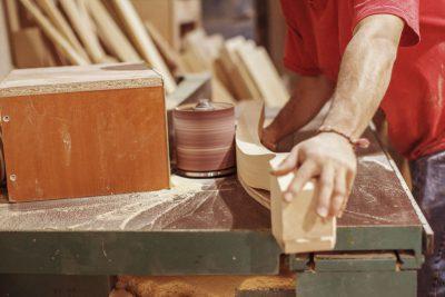 sanding table leg