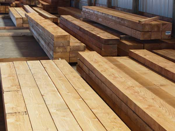 large cedar timbers
